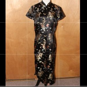 Dresses & Skirts - MULTICOLORED ASIAN INSPIRED DRESS